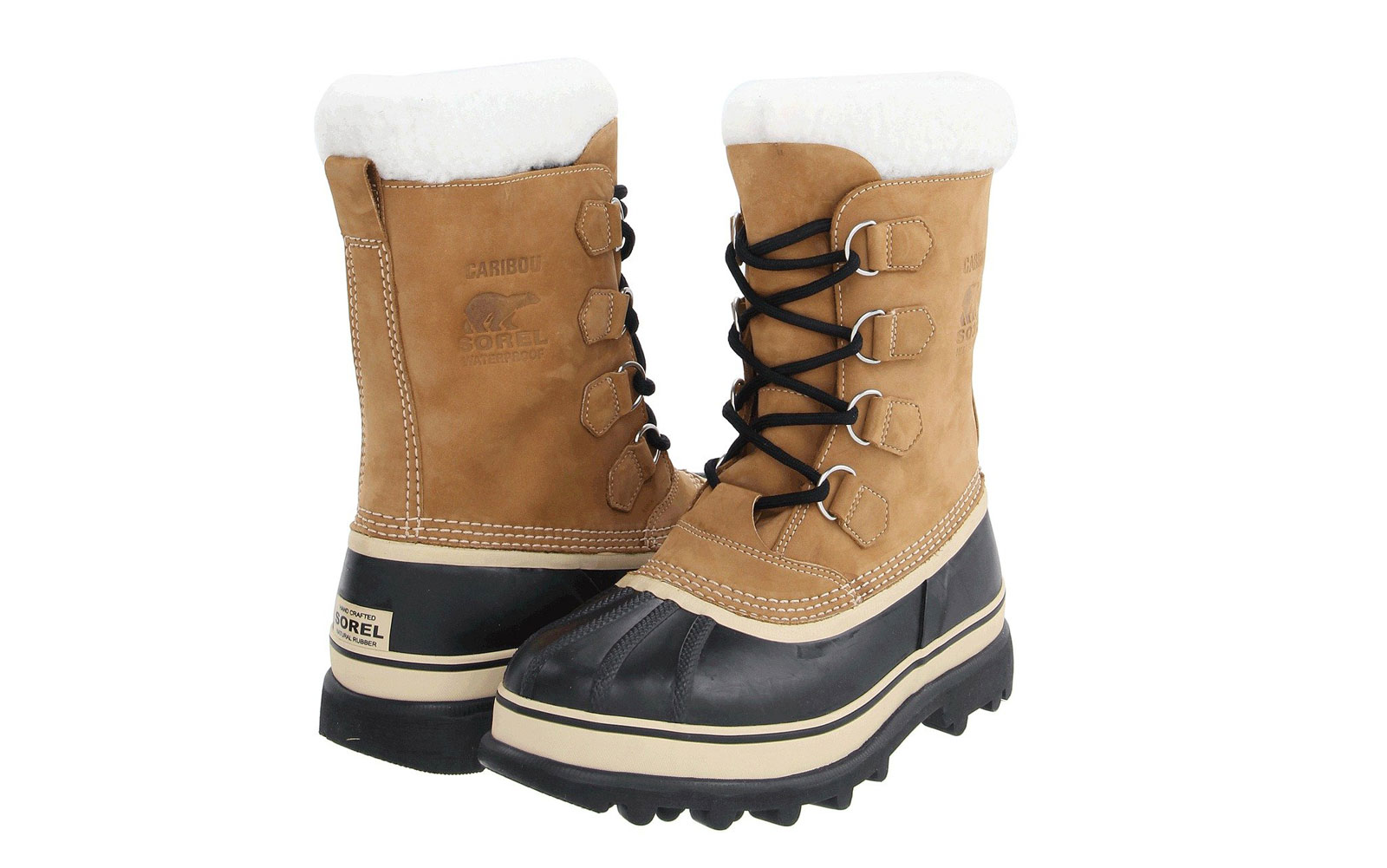 Men's Tall Tan Snow Boots with Sherpa