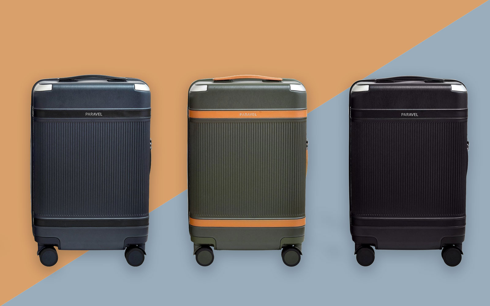 Three Carry-on suitcases