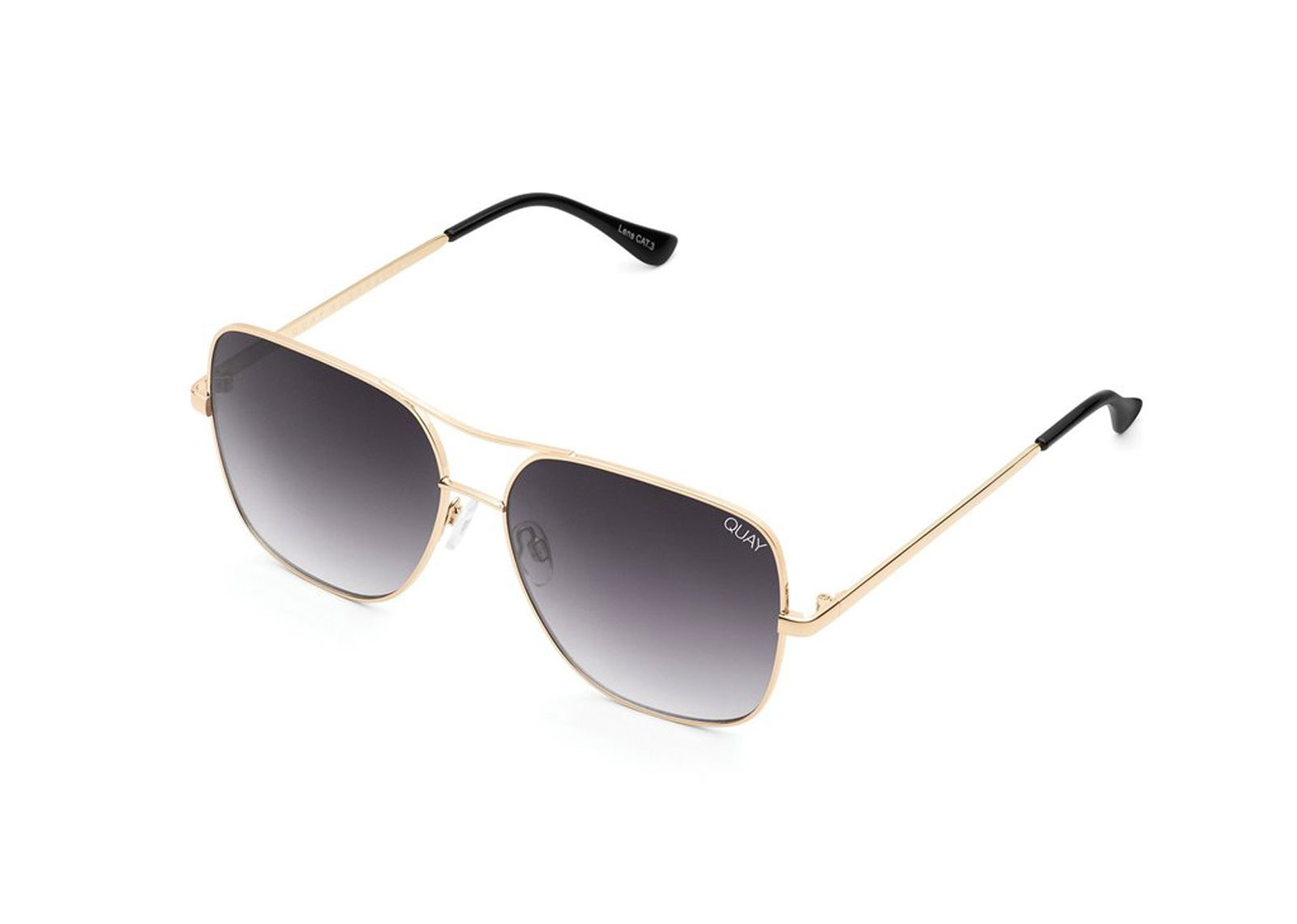 Gold and black wire aviator sunglasses