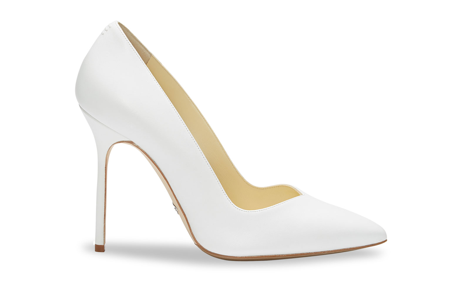 White Leather High Heel