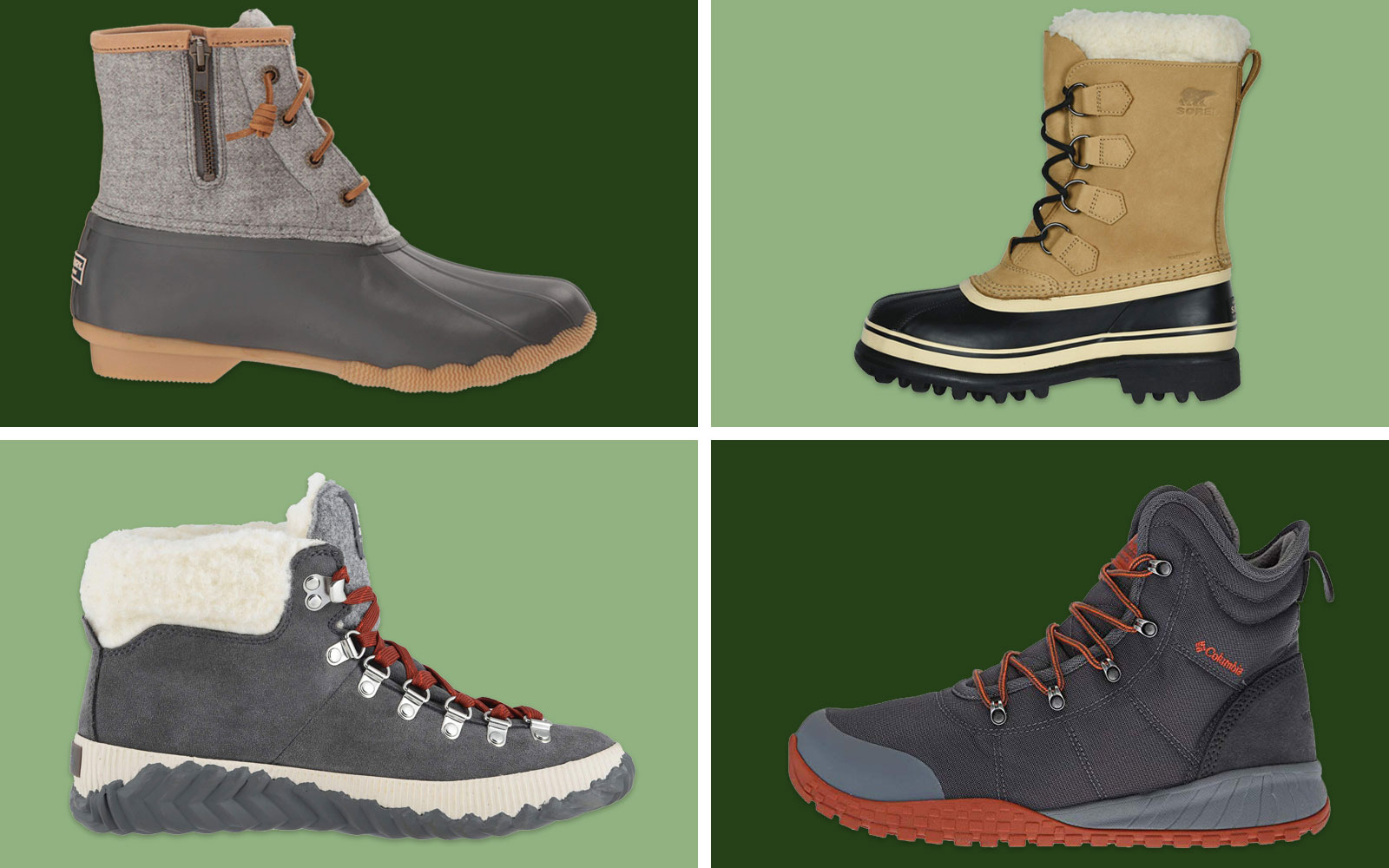 Four Pairs of Various Winter Boots