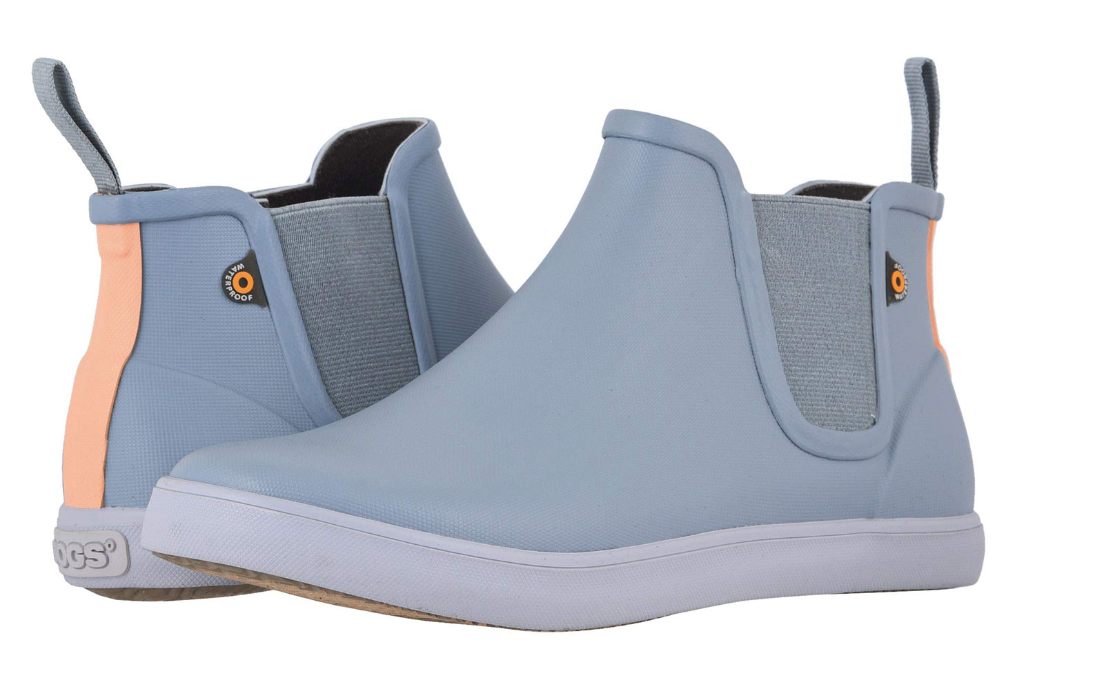 Women's short light blue rain boots