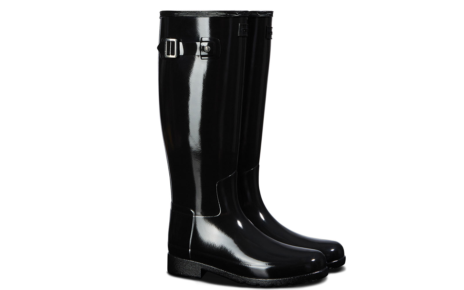 Women's tall black rain boots