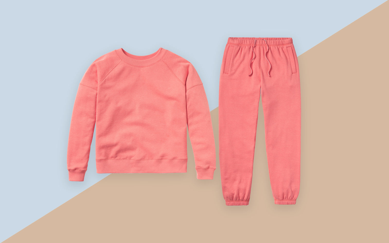 Coral sweatsuit