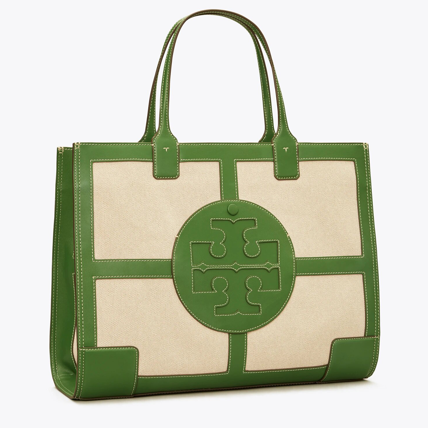 Tory Burch Ella Canvas Quadrant Tote