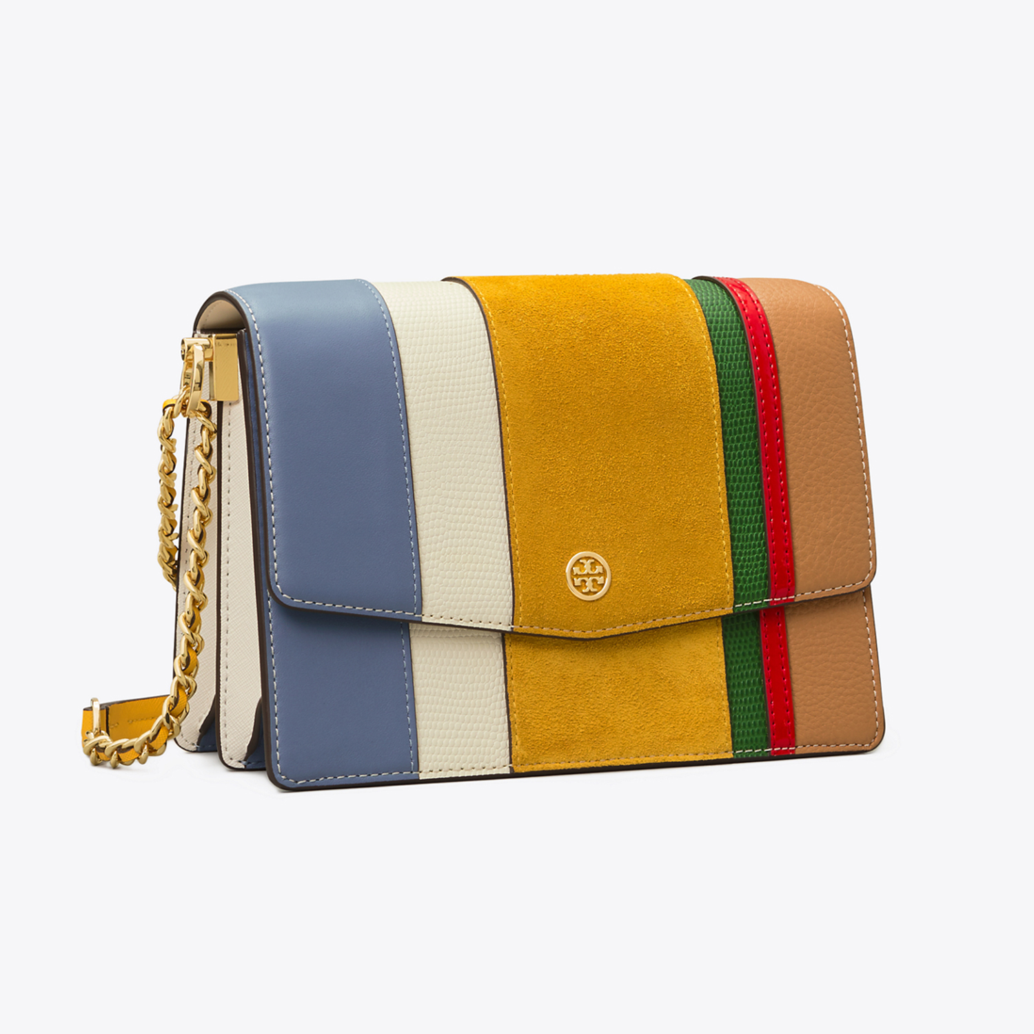 Tory Burch Robinson Balloon Stripe Convertible Shoulder Bag