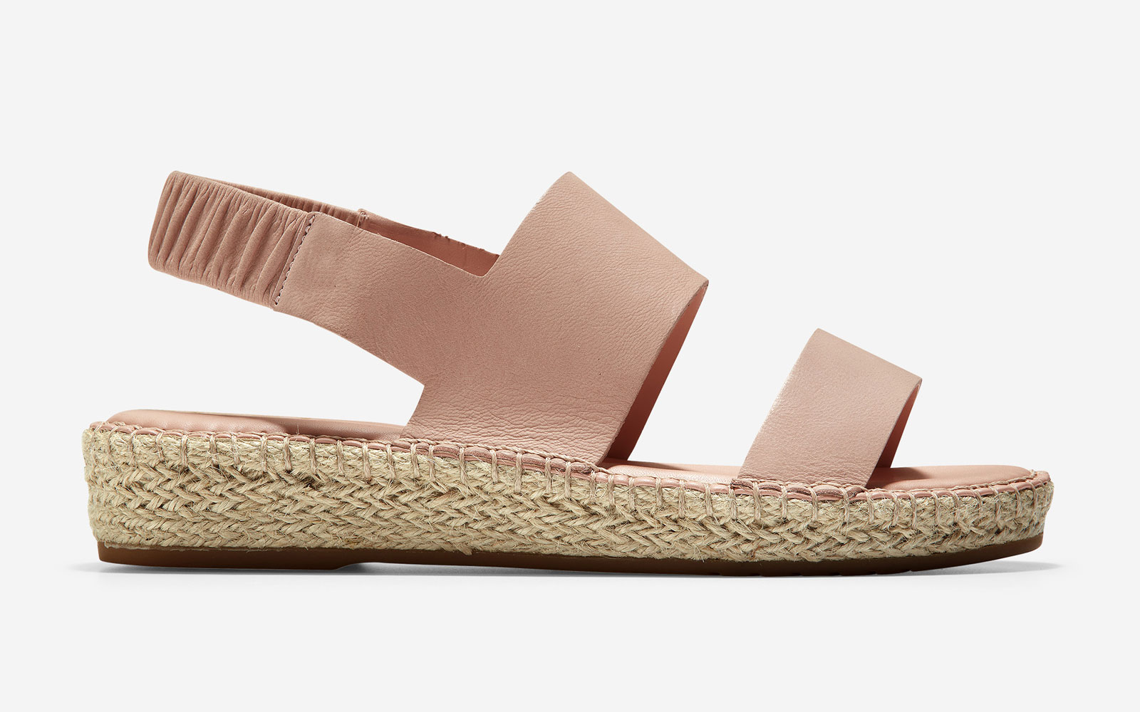 Pink leather espadrille sandals
