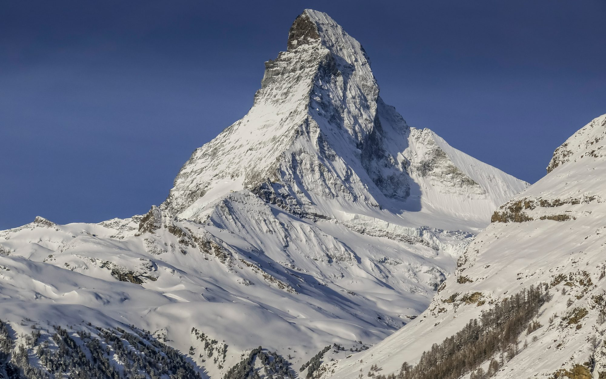 Switzerland's Matterhorn Lights up With Messages of Hope During Coronavirus Lockdown