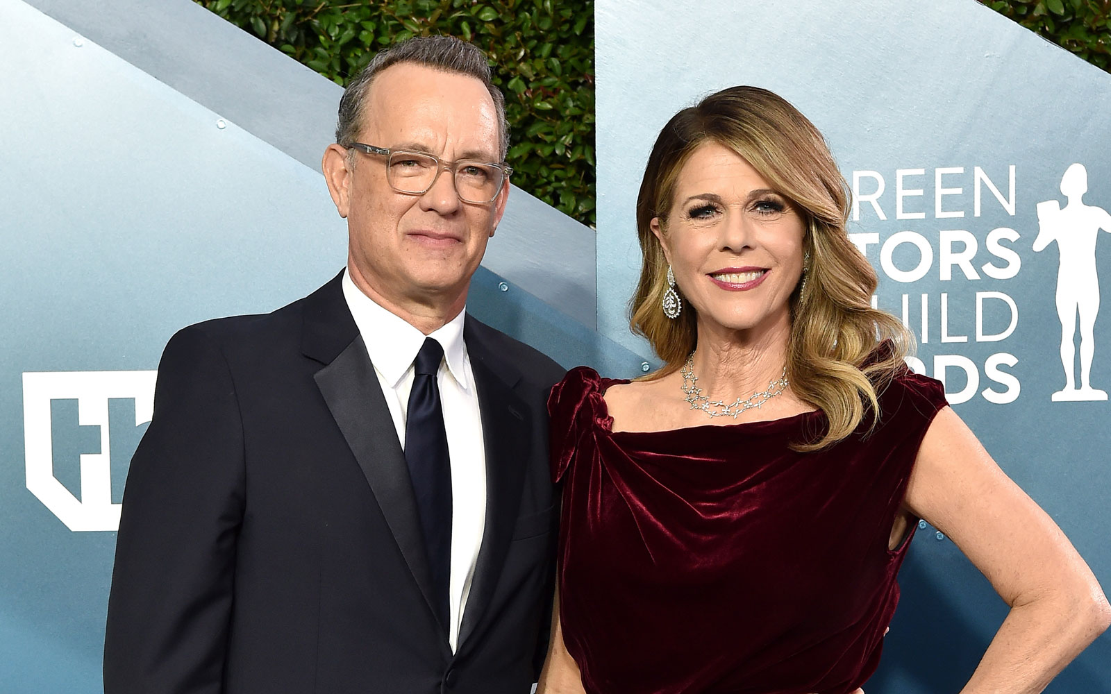 Tom Hanks and Rita Wilson attend the 26th Annual Screen Actors Guild Awards at The Shrine Auditorium on January 19, 2020 in Los Angeles, California.