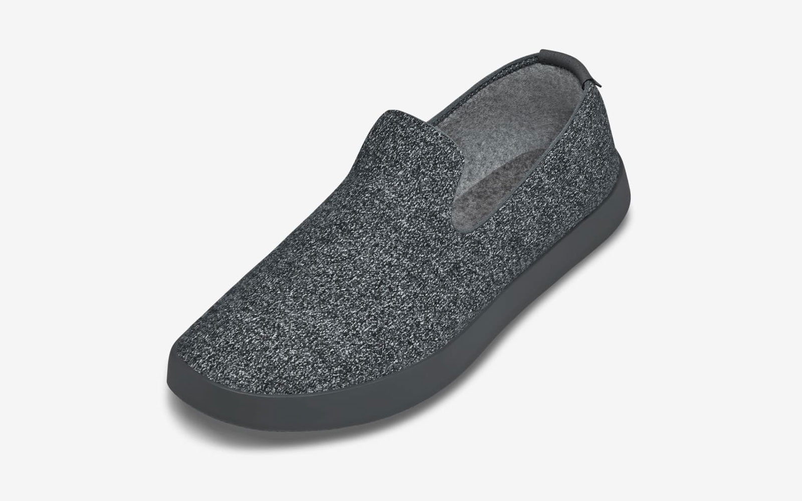 Dark grey wool slip on shoes