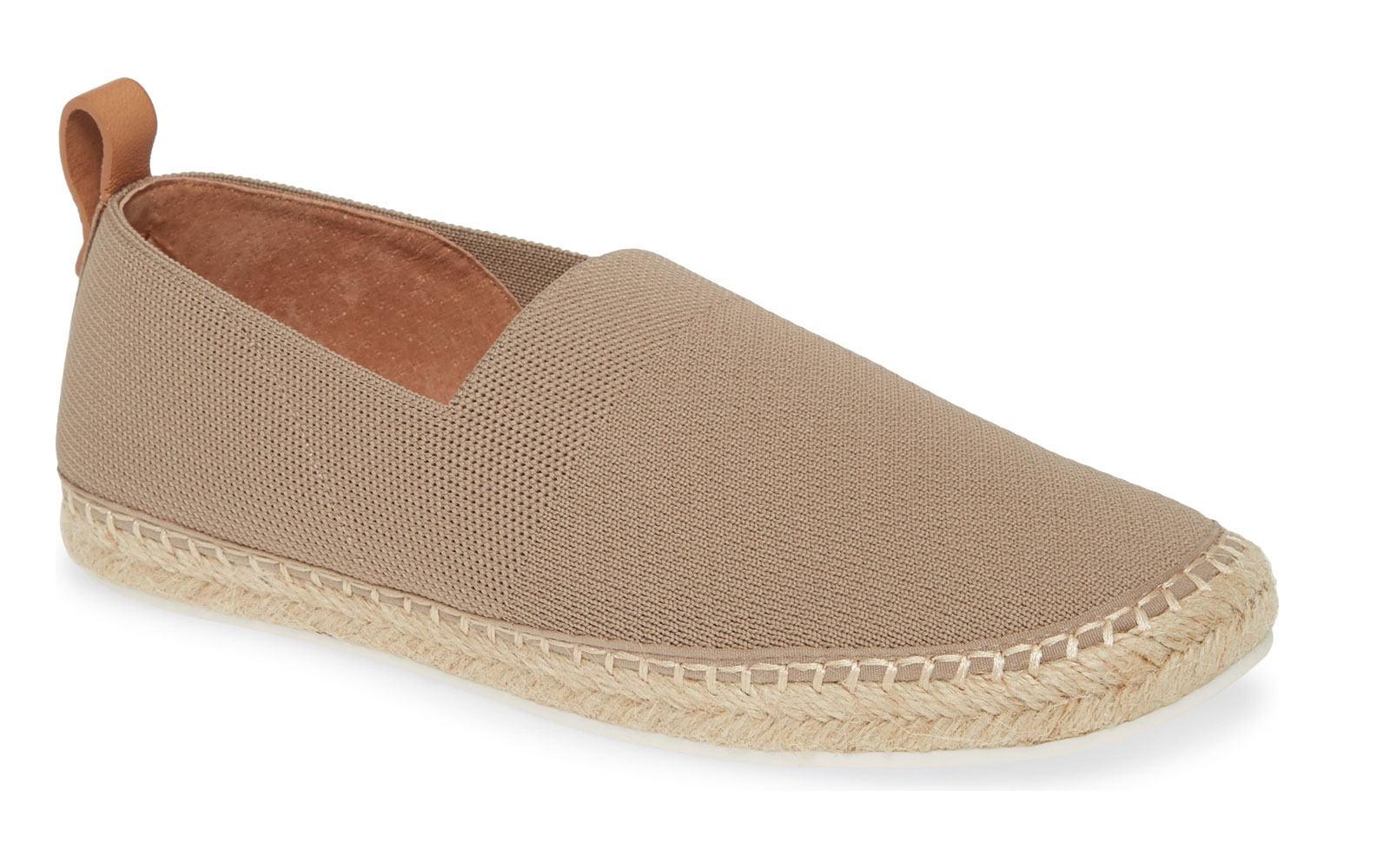 Tan slip on espadrilles