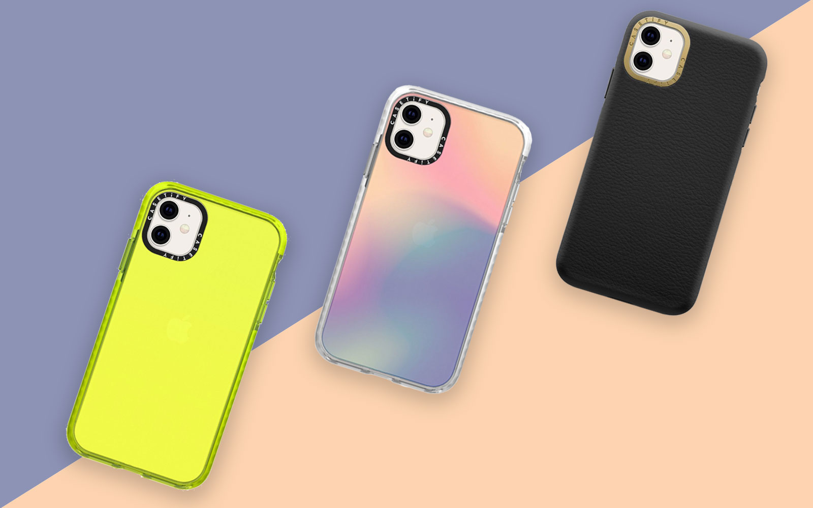 Three phone cases