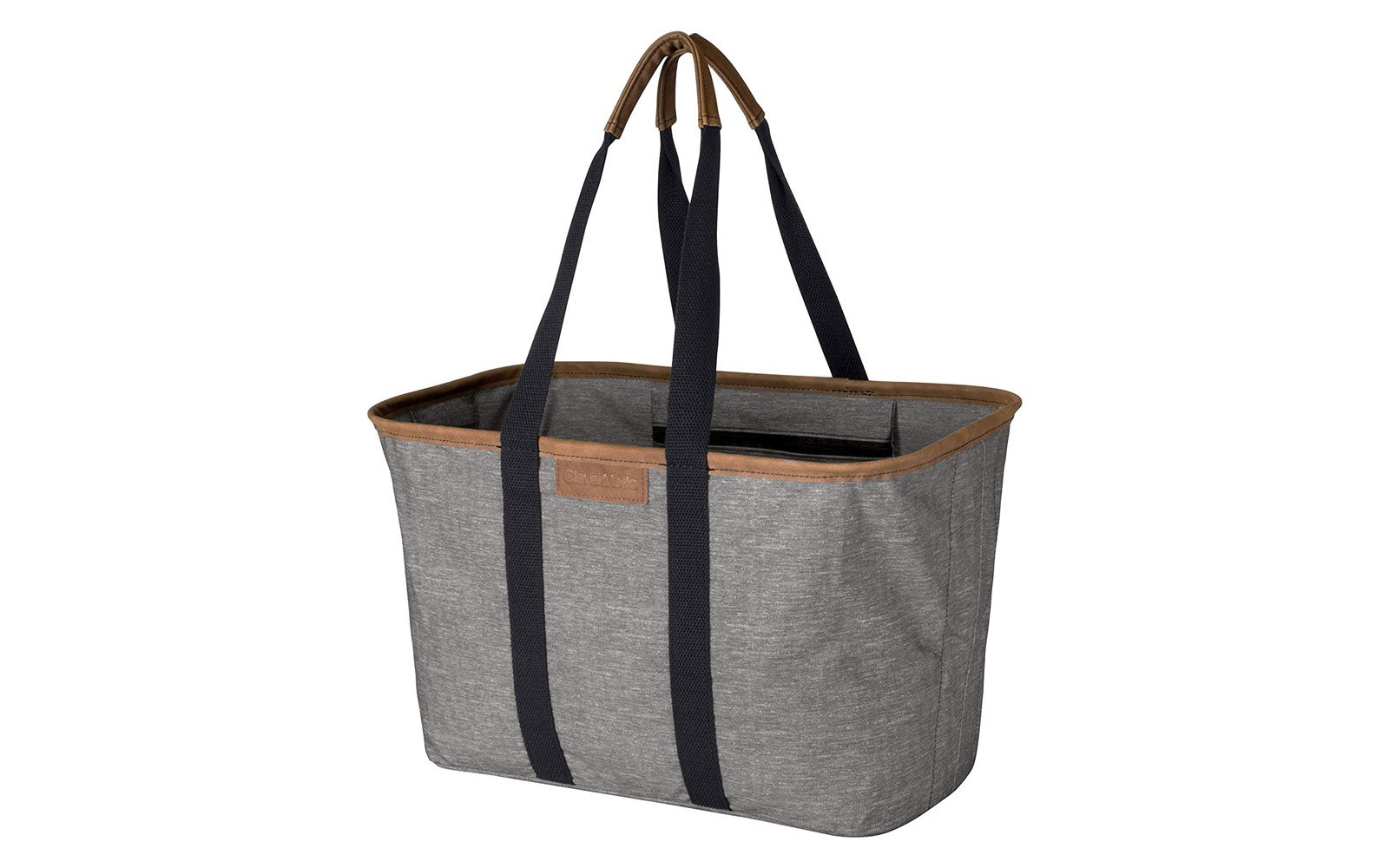 Grey and black shopping tote
