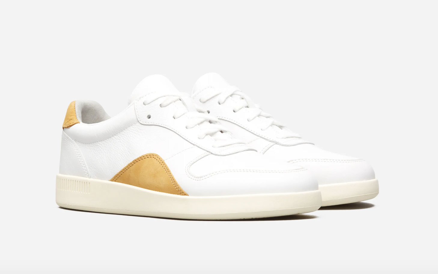 Everlane Court Sneaker Yellow White