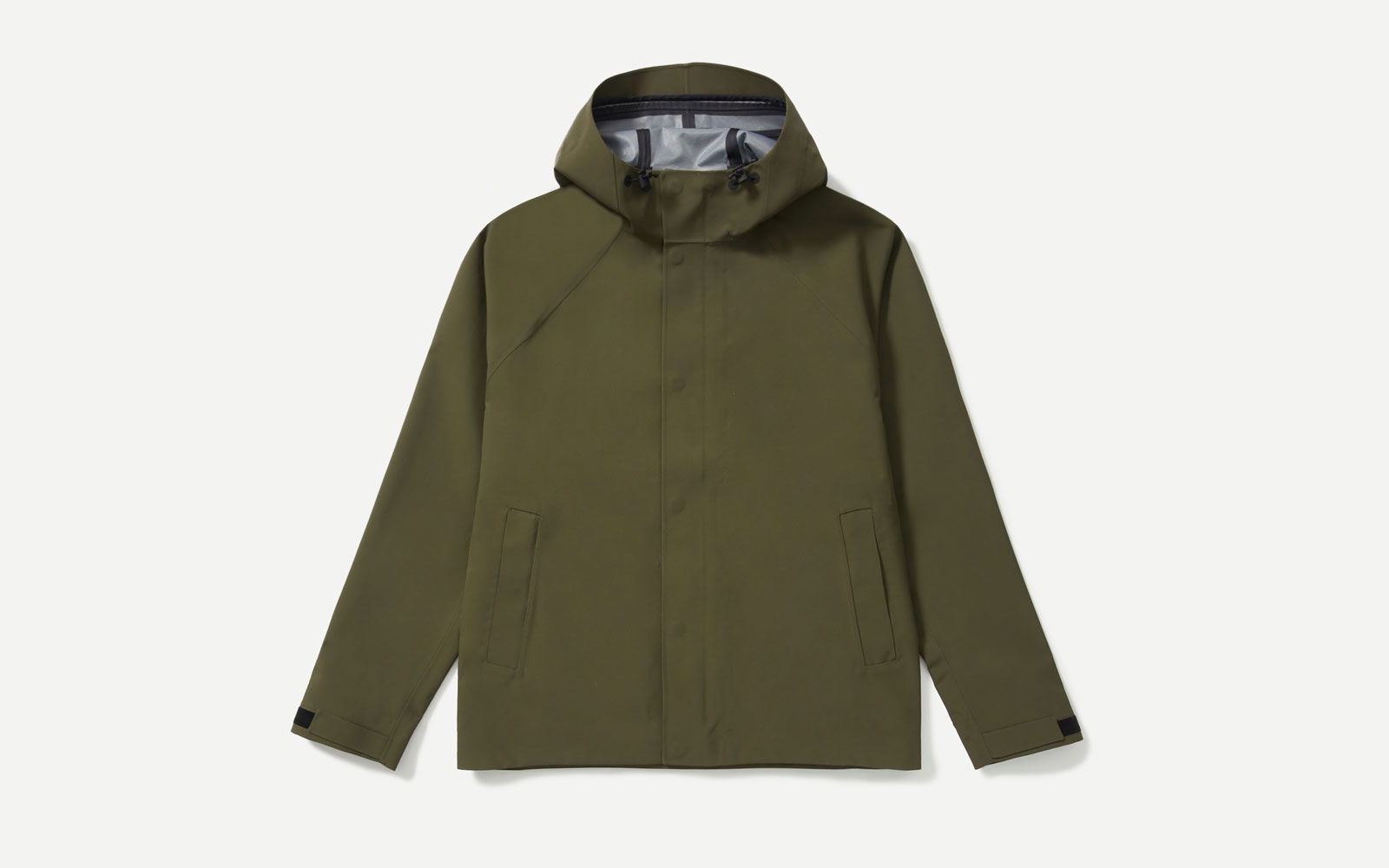 Men's dark green rain jacket
