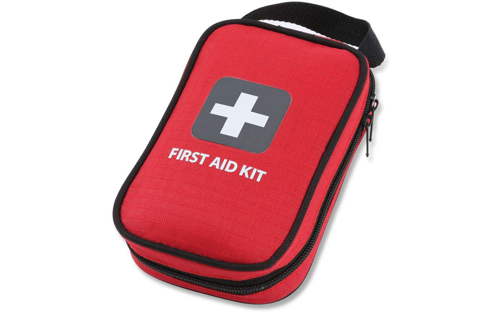 Red travel first aid kit