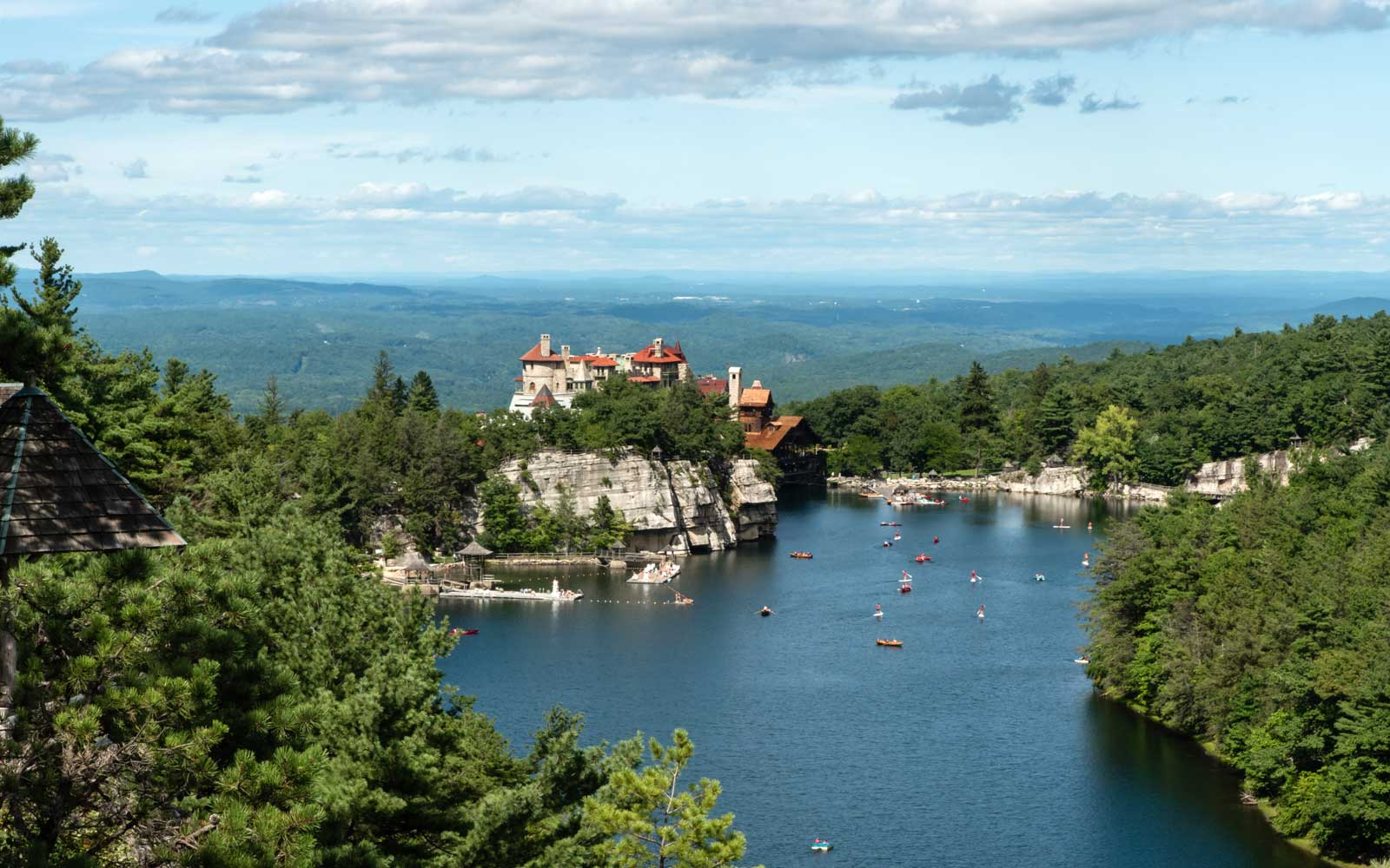 Lake Mohonk in the summer