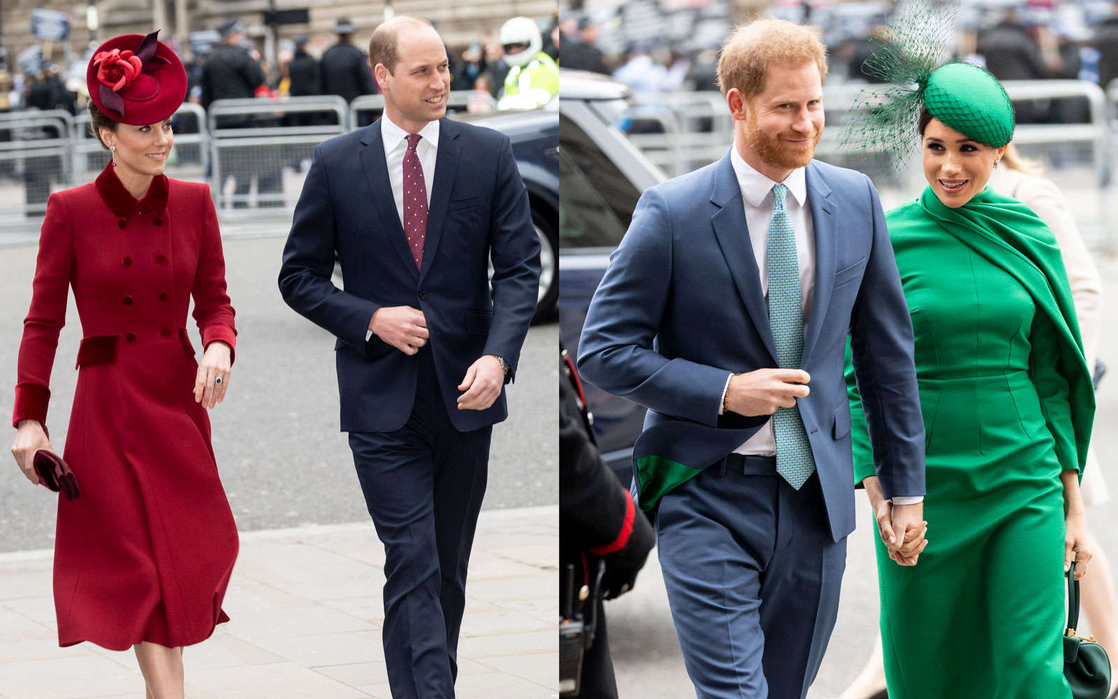 Kate Middleton, Prince William, Prince Harry, and Meghan Markle attending Commonwealth Day 2020
