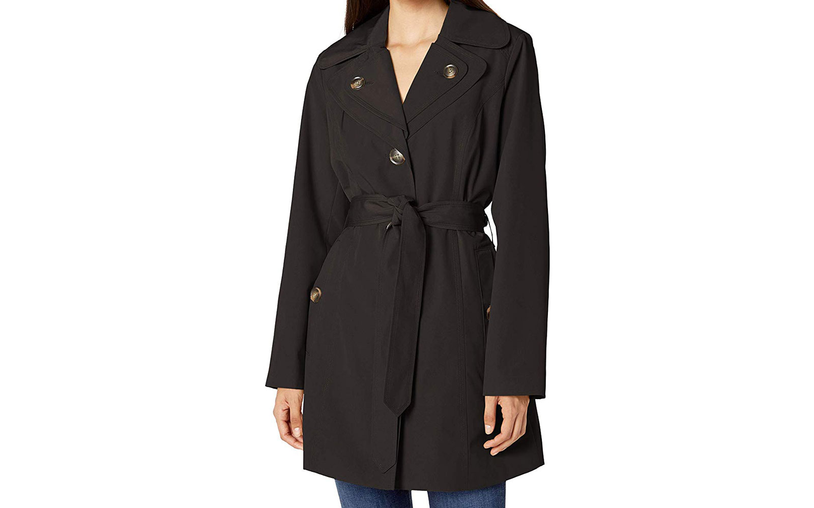 London Fog Double Lapel Mid Length Trench Coat