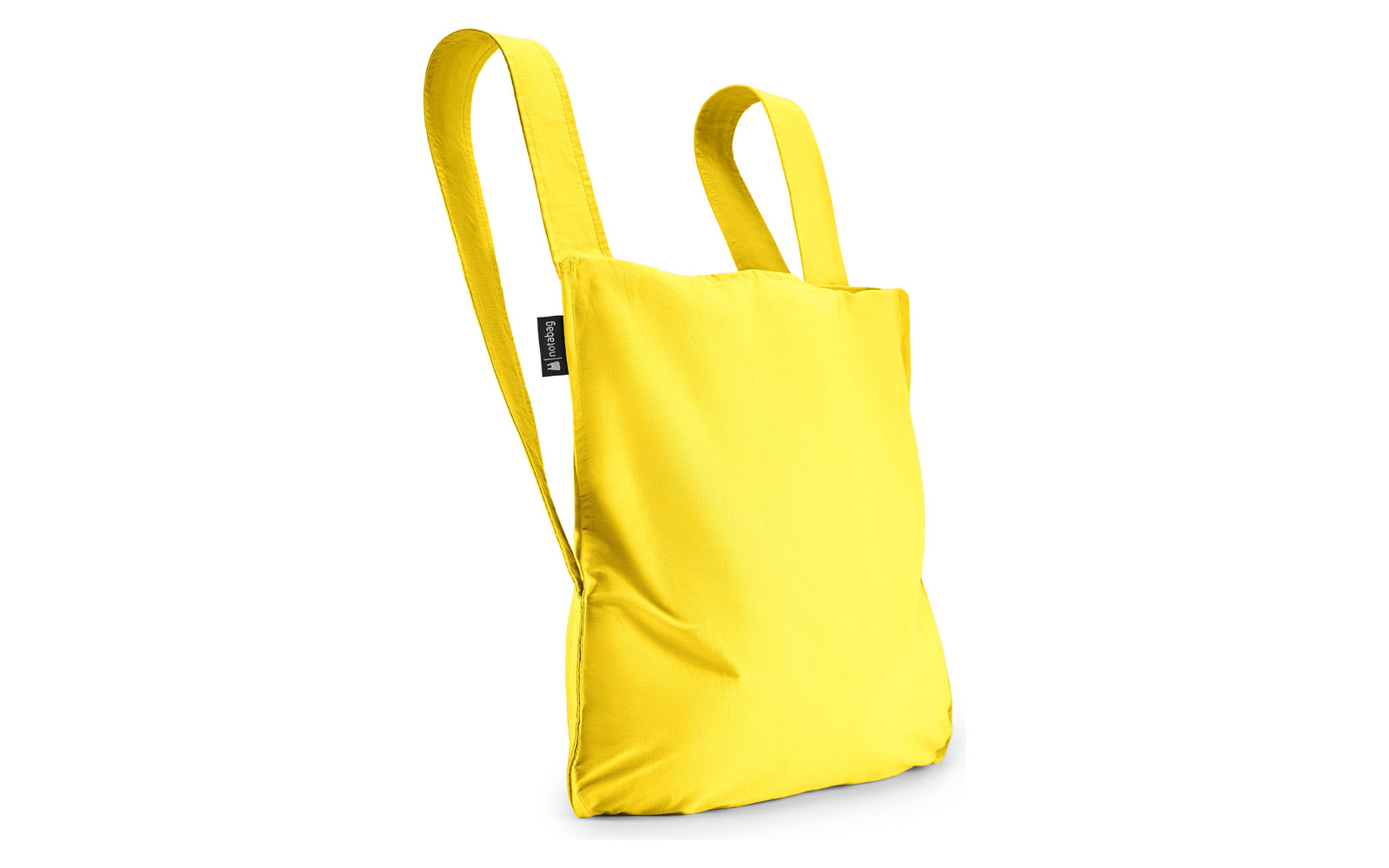 Yellow backpack tote