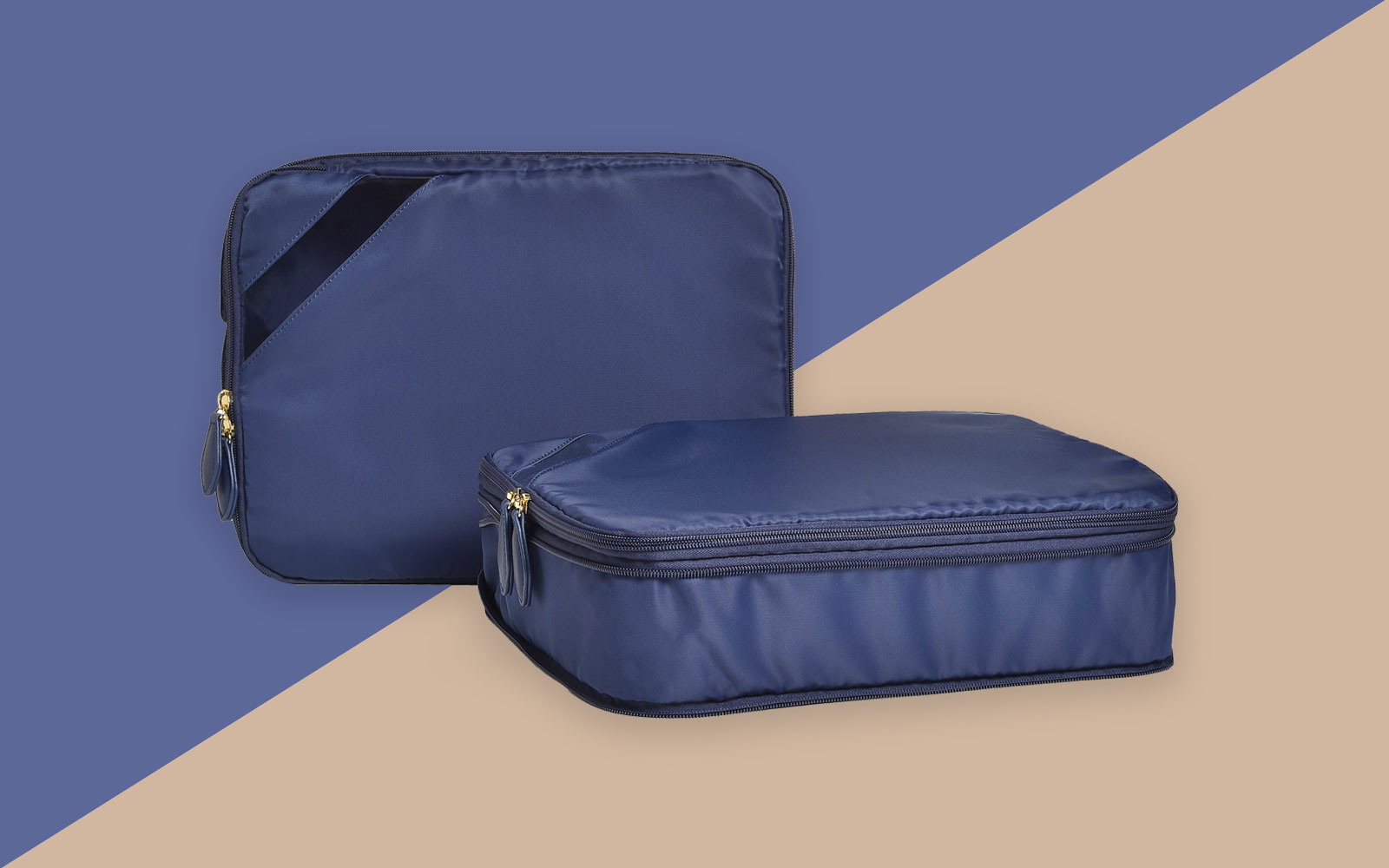 Navy packing cubes