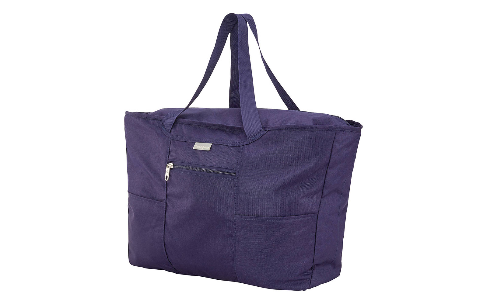 Dark blue packable tote