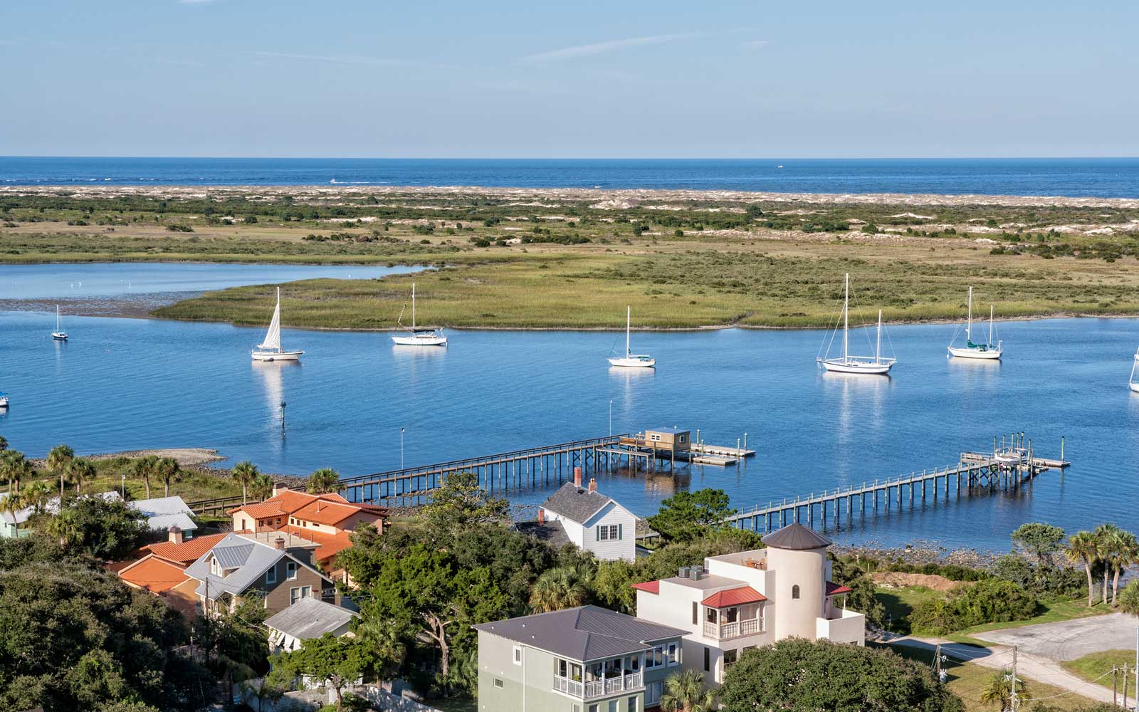 View from the top of St. Augustine's Lighthouse