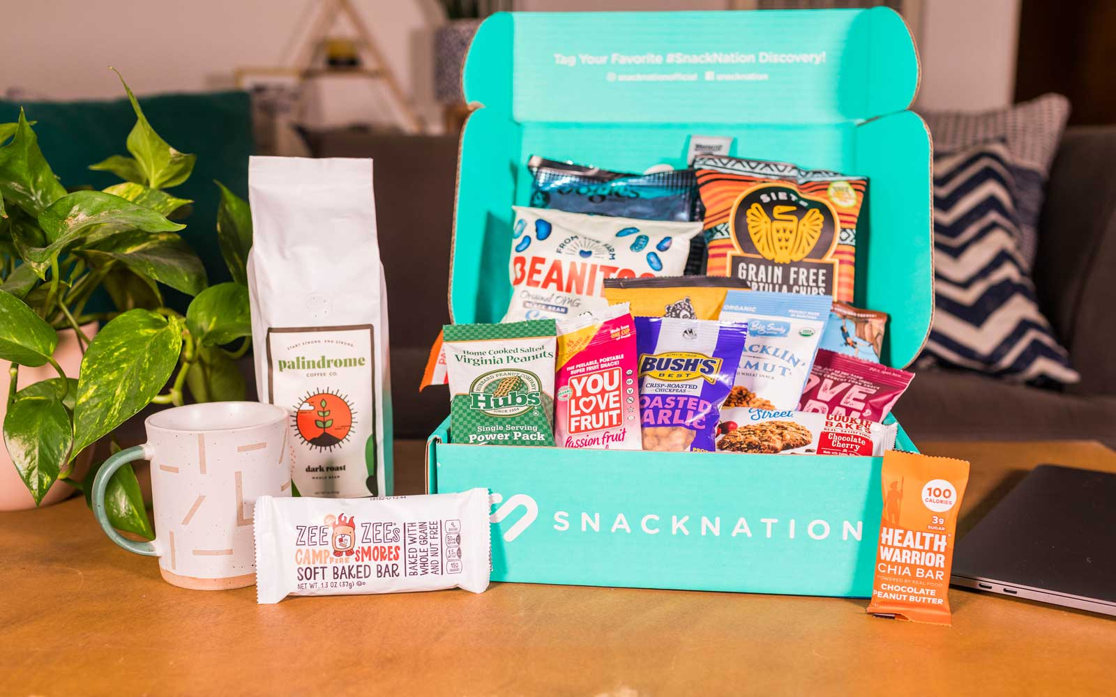 Work-From-Home Wellness Box offering from SnackNation