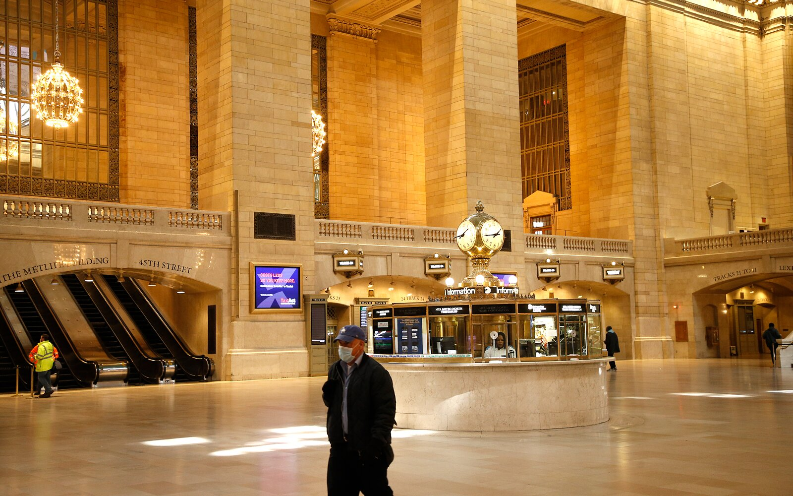 Grand Central Terminal is nearly empty amid the coronavirus pandemic on April 5, 2020 in New York City.