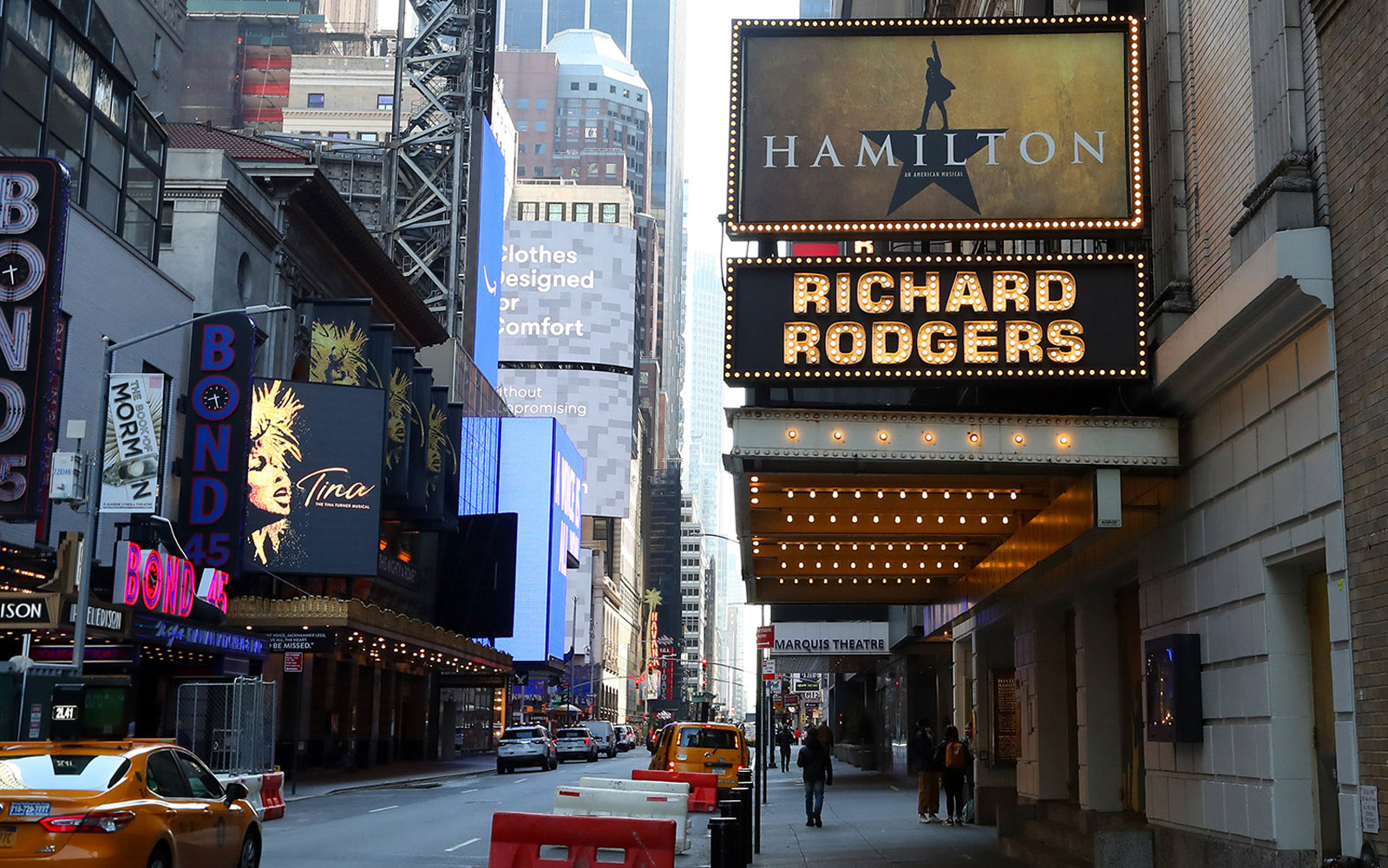 Broadway theater signs