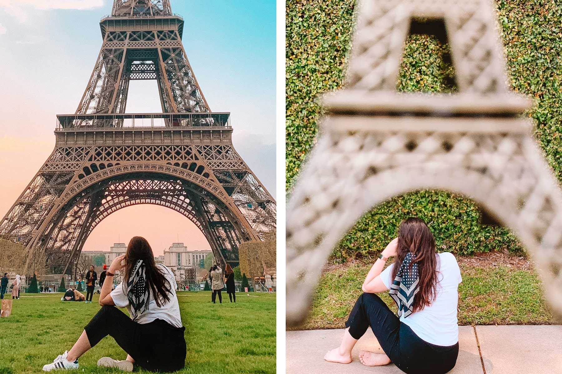 Paris vacation photo recreation