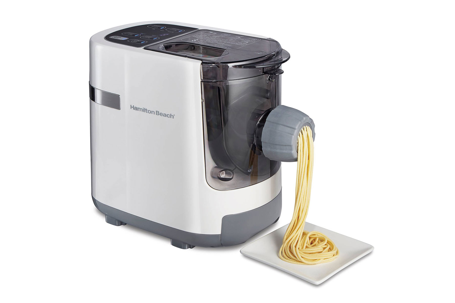 Silver electric pasta maker