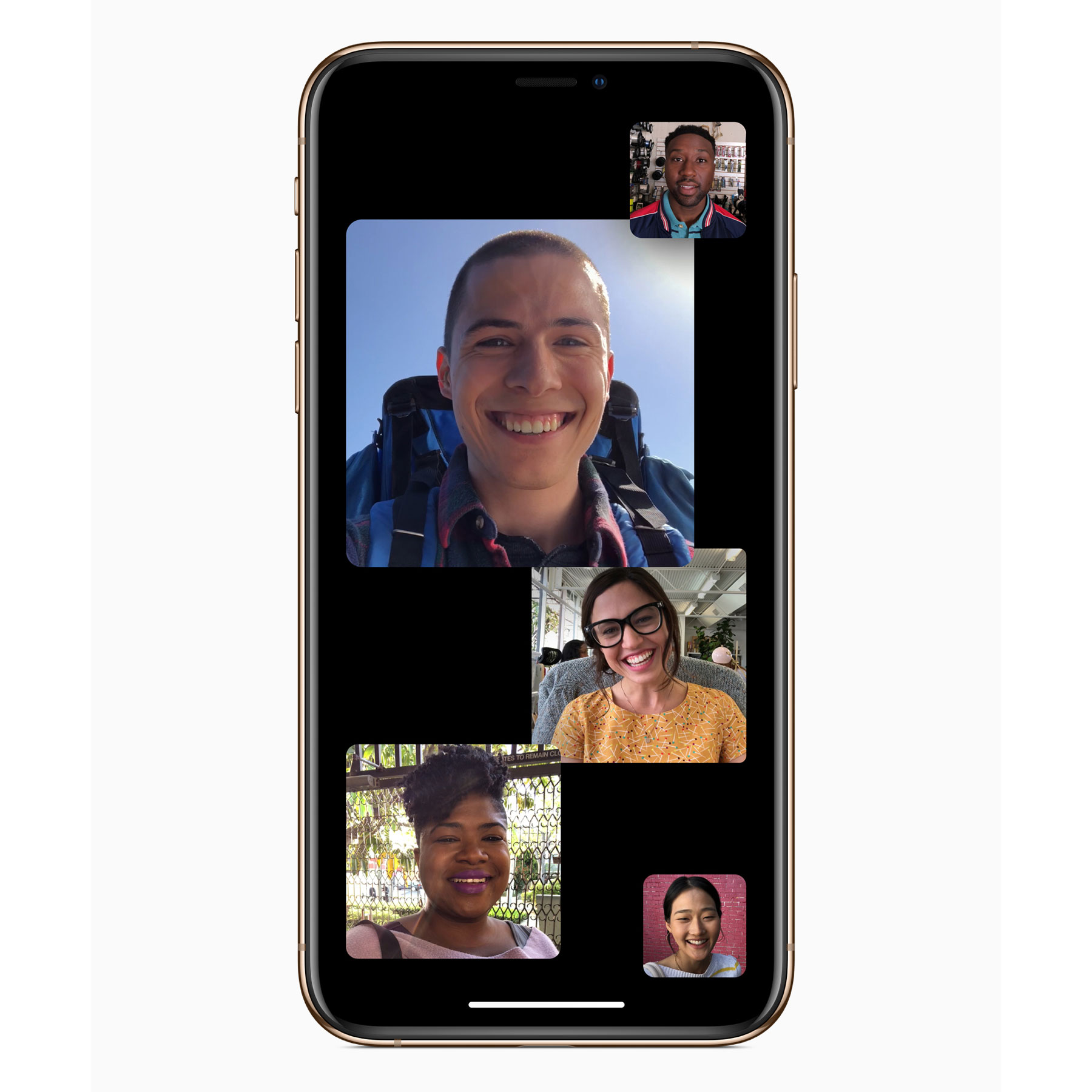 Facetime app opened on an iPhone