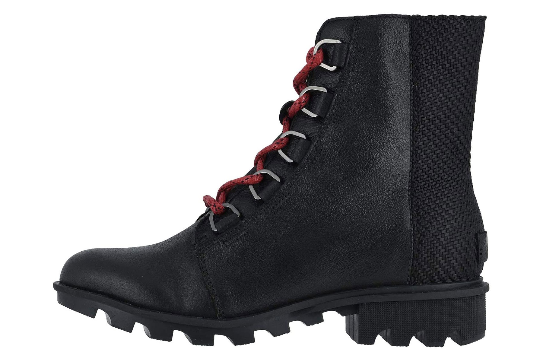 Black lace-up waterproof shoes