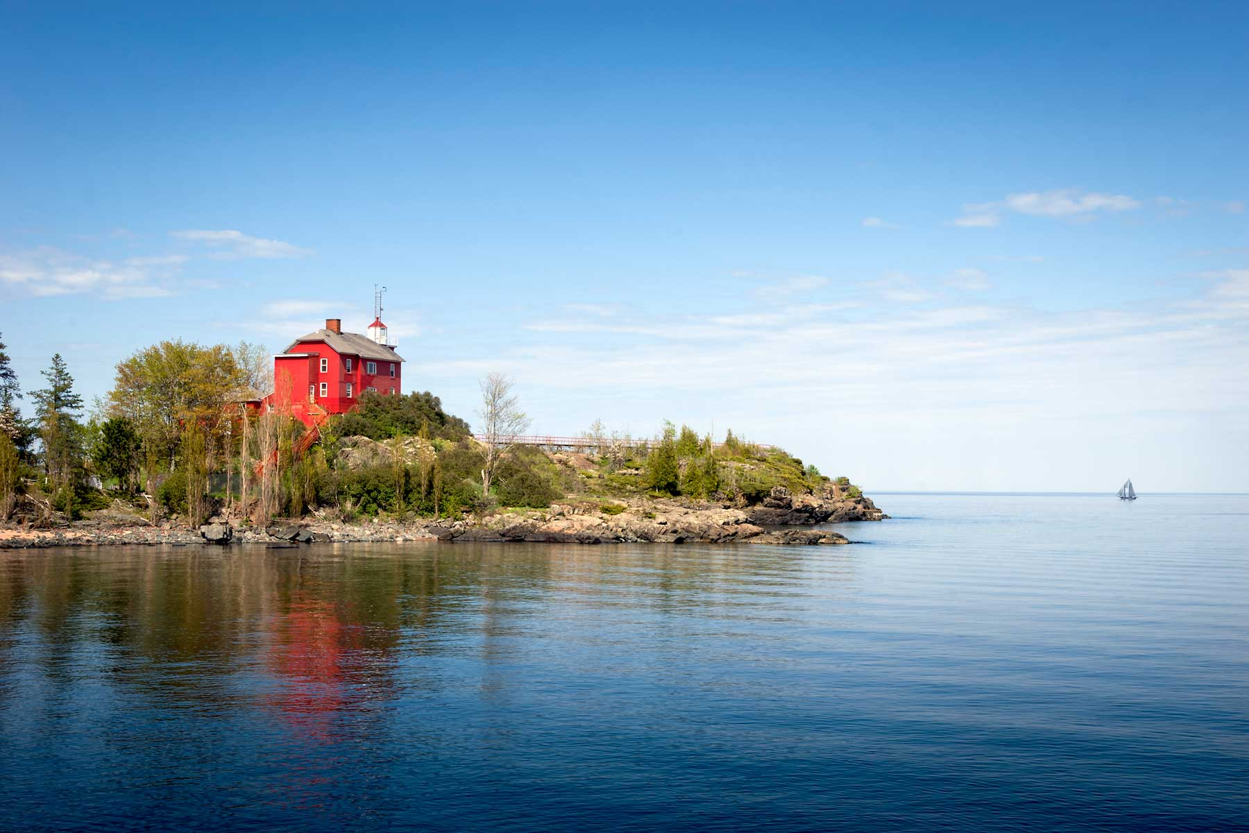Marquette Harbor Lighthouse on Lake Superior