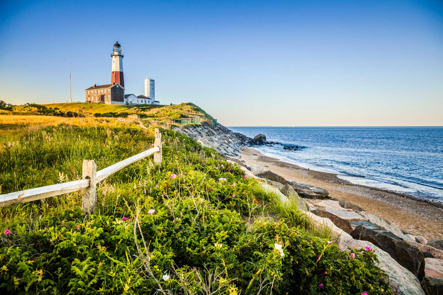 Lighthouse at Montauk point, Long Island