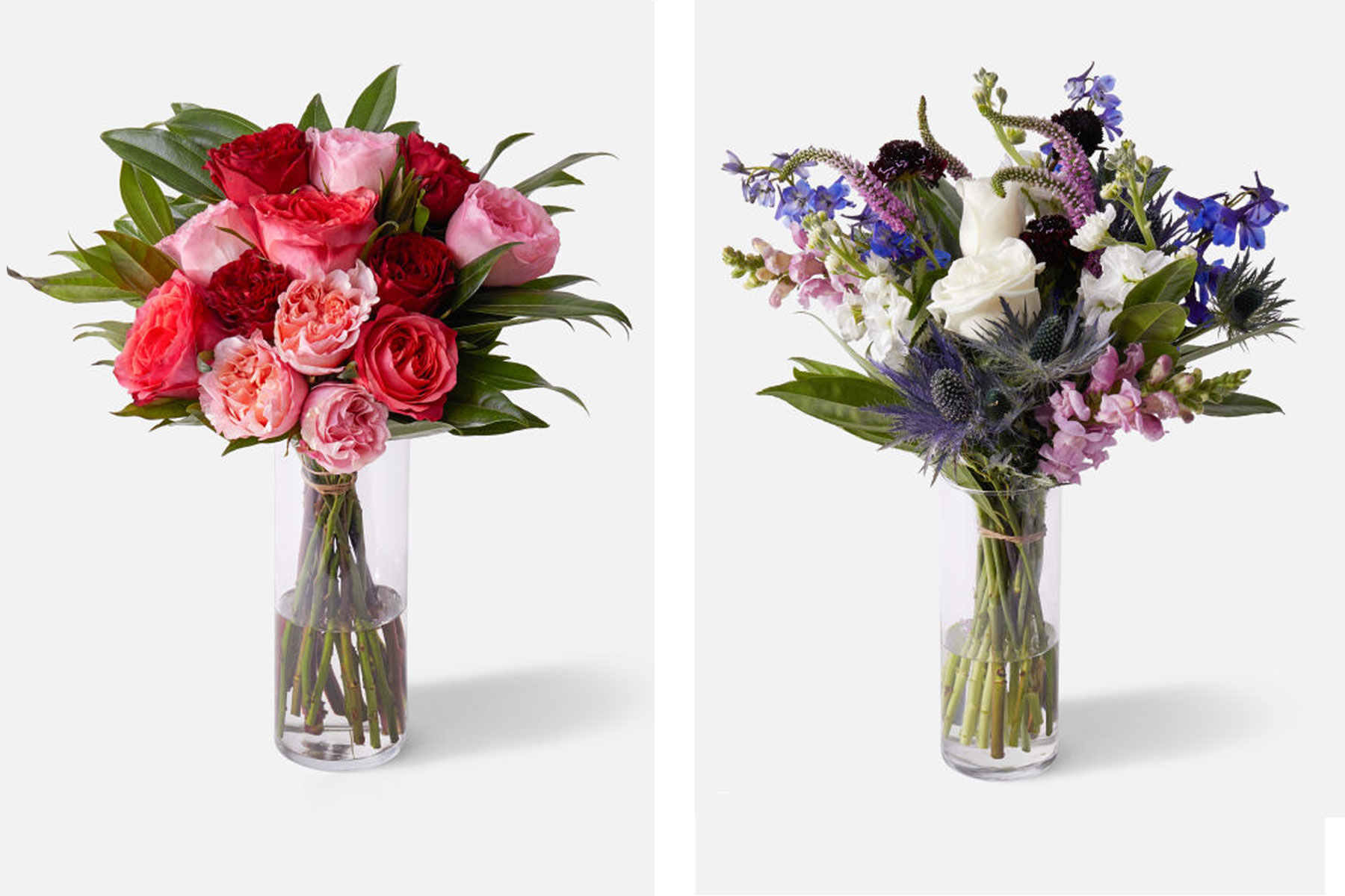 Two floral bouquets