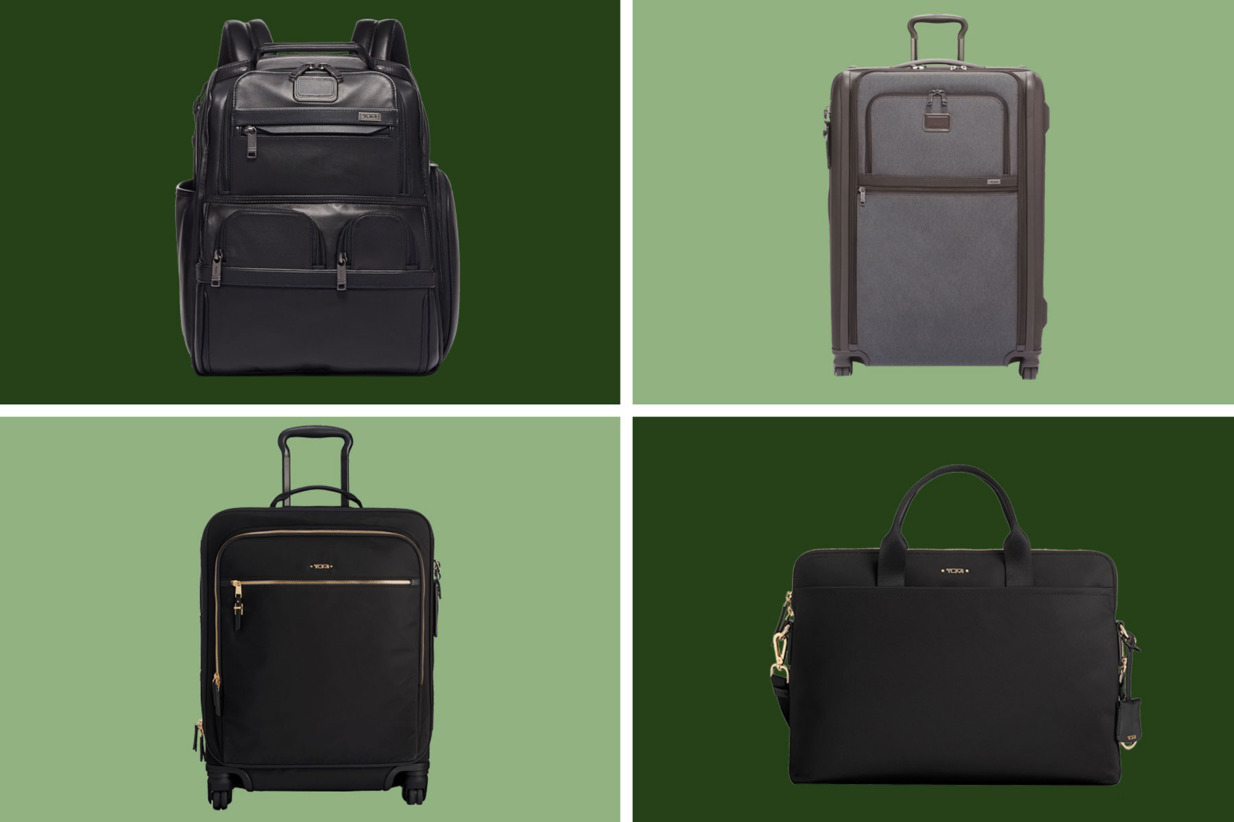 Various Tumi luggage