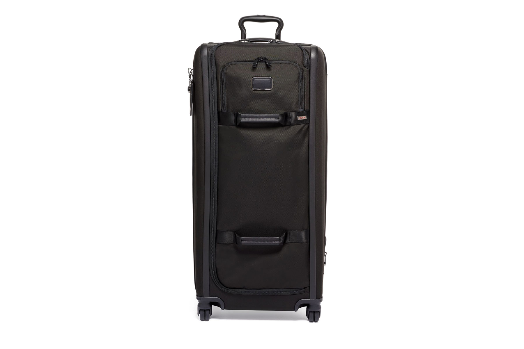 Black tall rolling suitcase