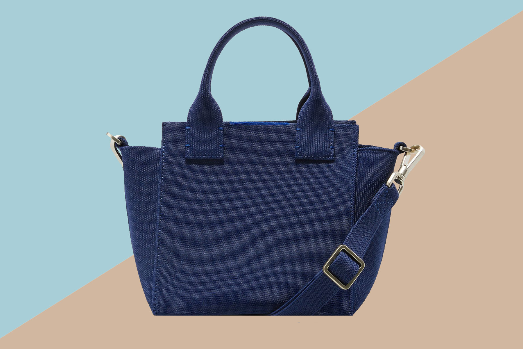 Navy mini handbag