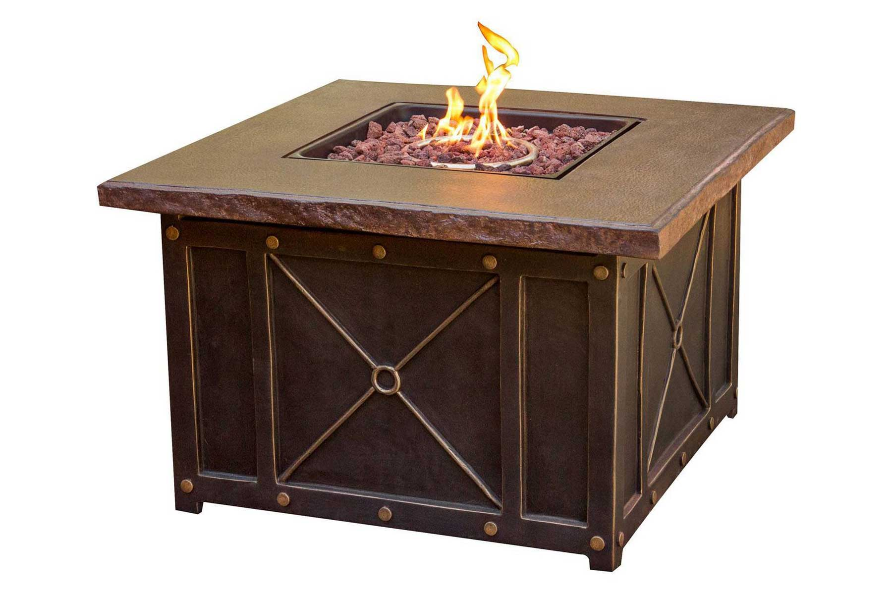 """Cambridge Classic 40"""" Gas Fire Pit with Durastone Top"""