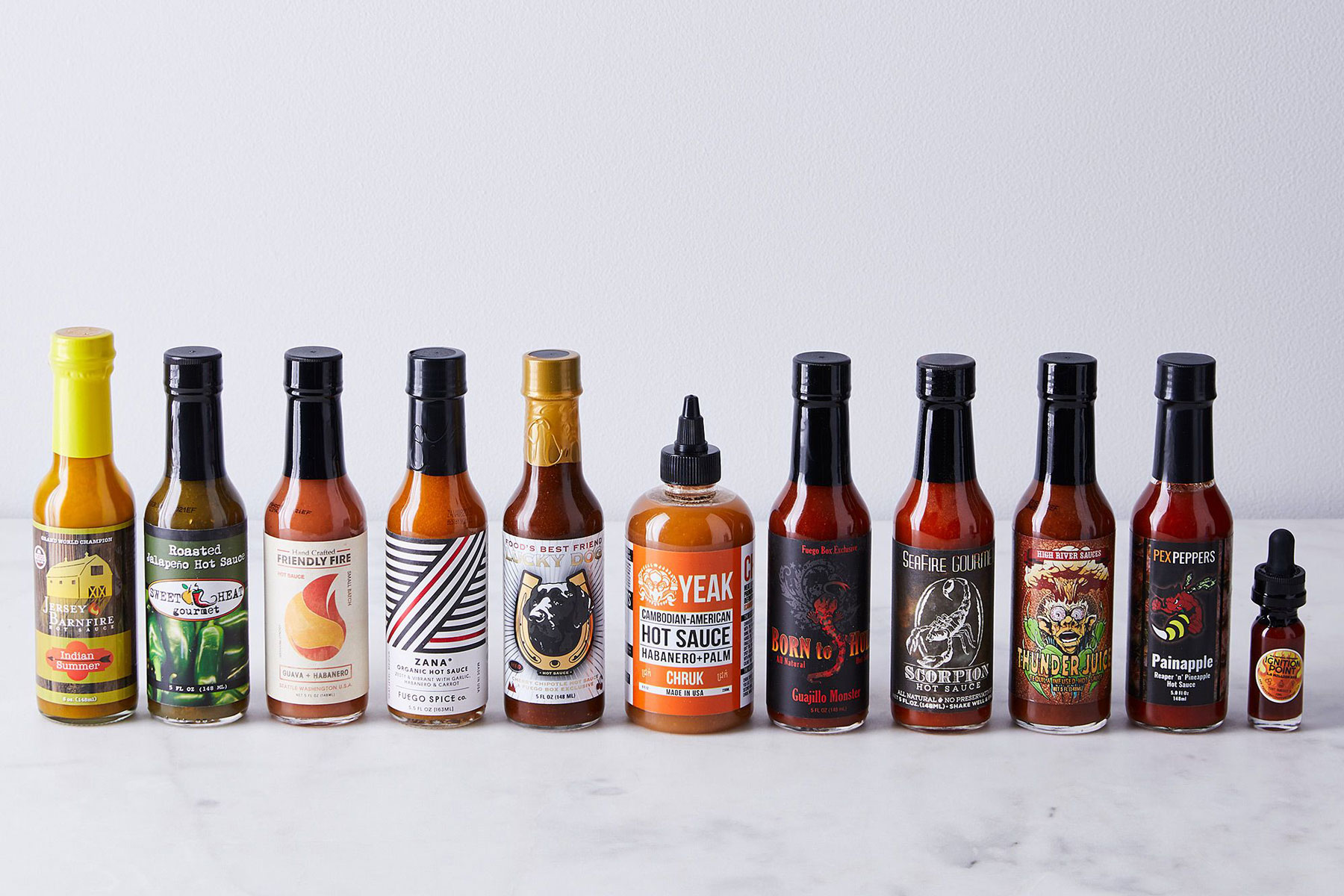 Various hot sauces