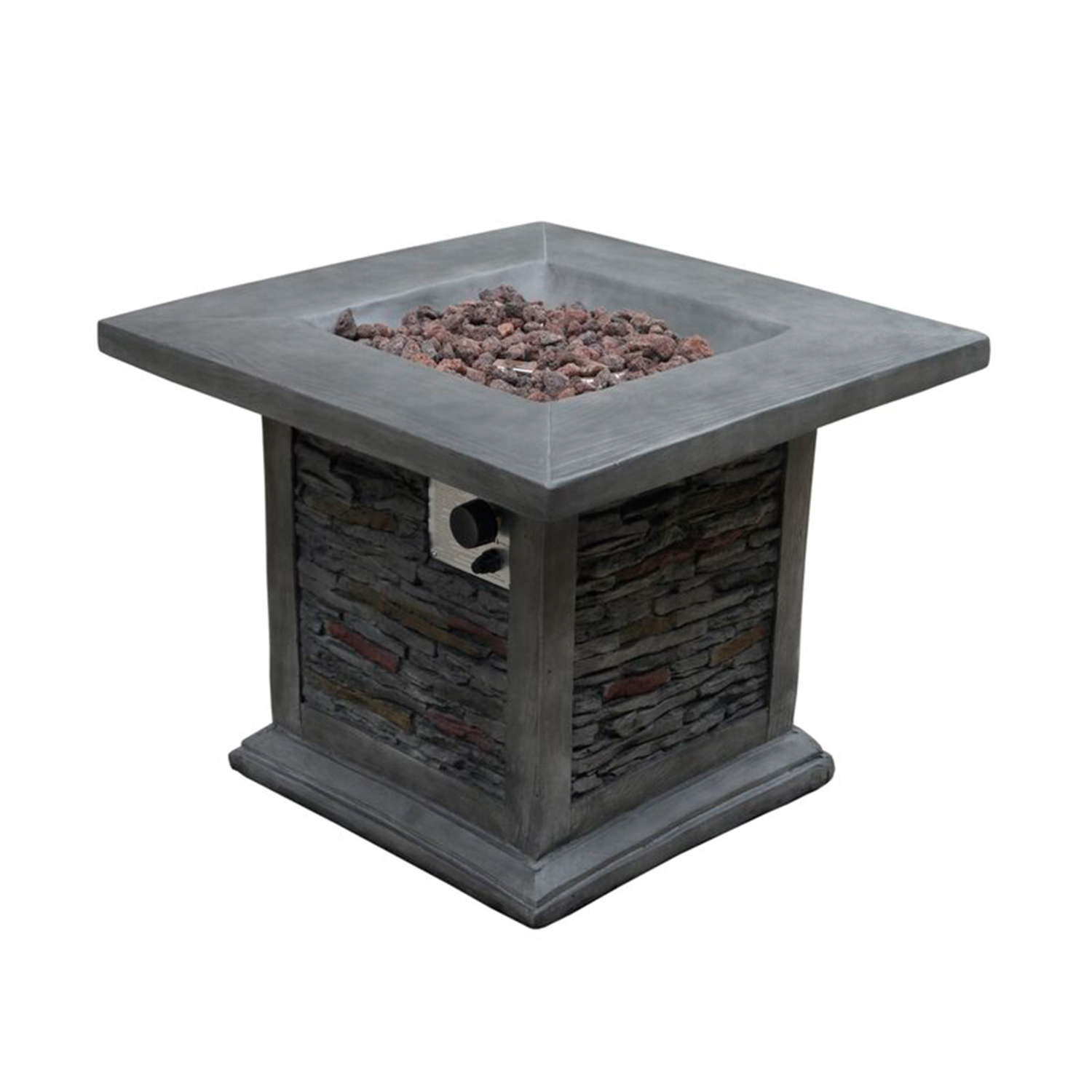 Bettine Stone Propane Gas Fire Pit Table