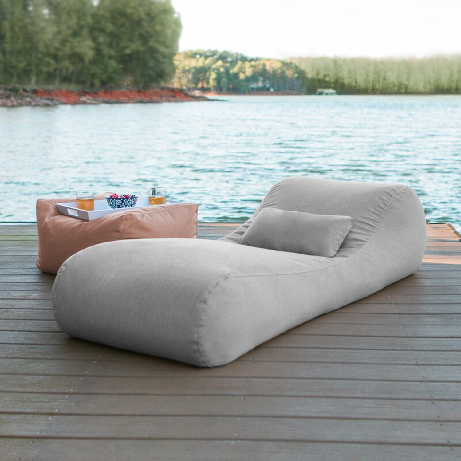 Daisha Outdoor Bag Sun Chaise Lounge with Cushion