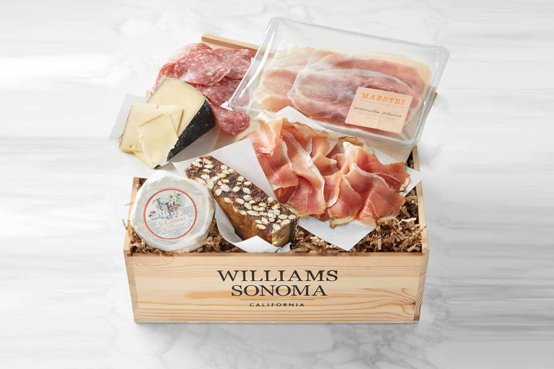 cheese and meat charcuterie board box