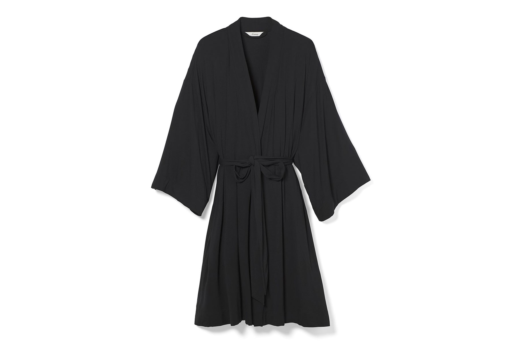 Women's black bathrobe