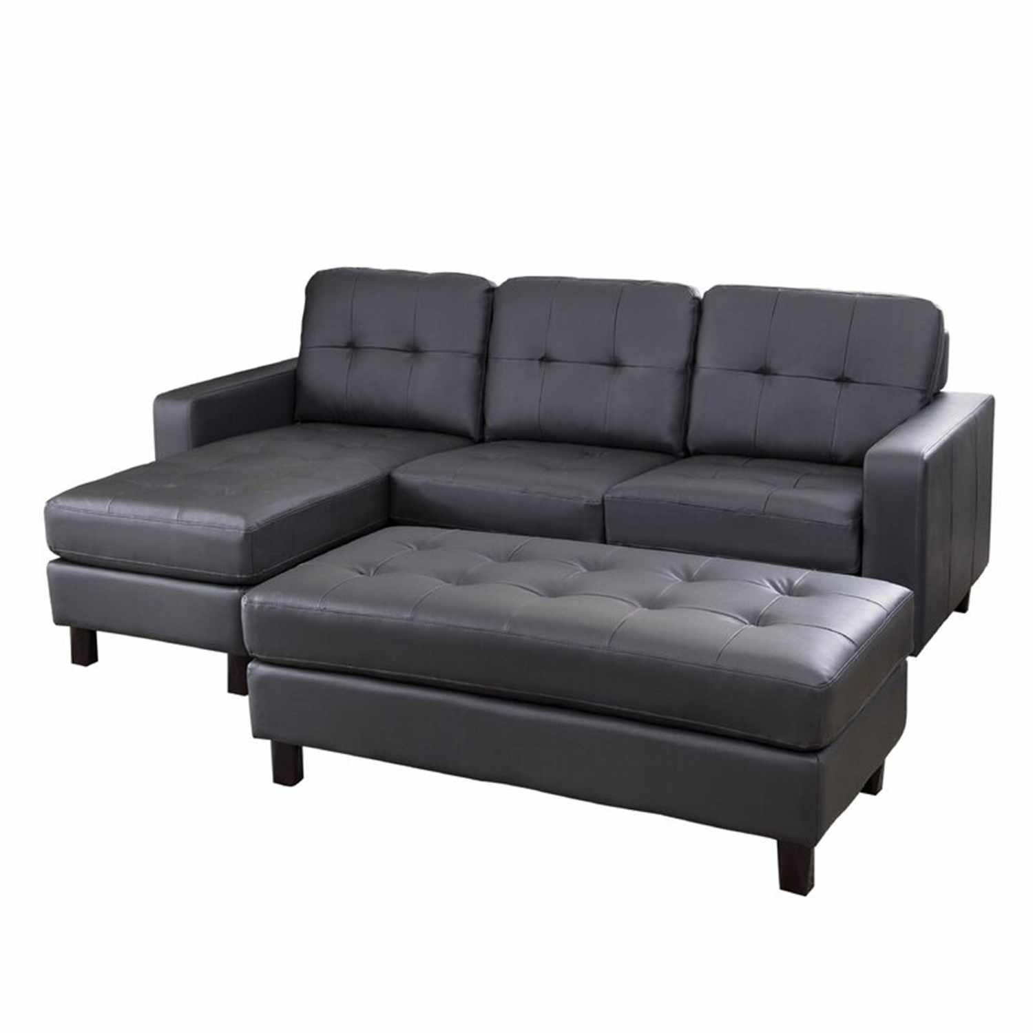"Breakwater Bay Oliver 90"" Reversible Modular Sectional with Ottoman"