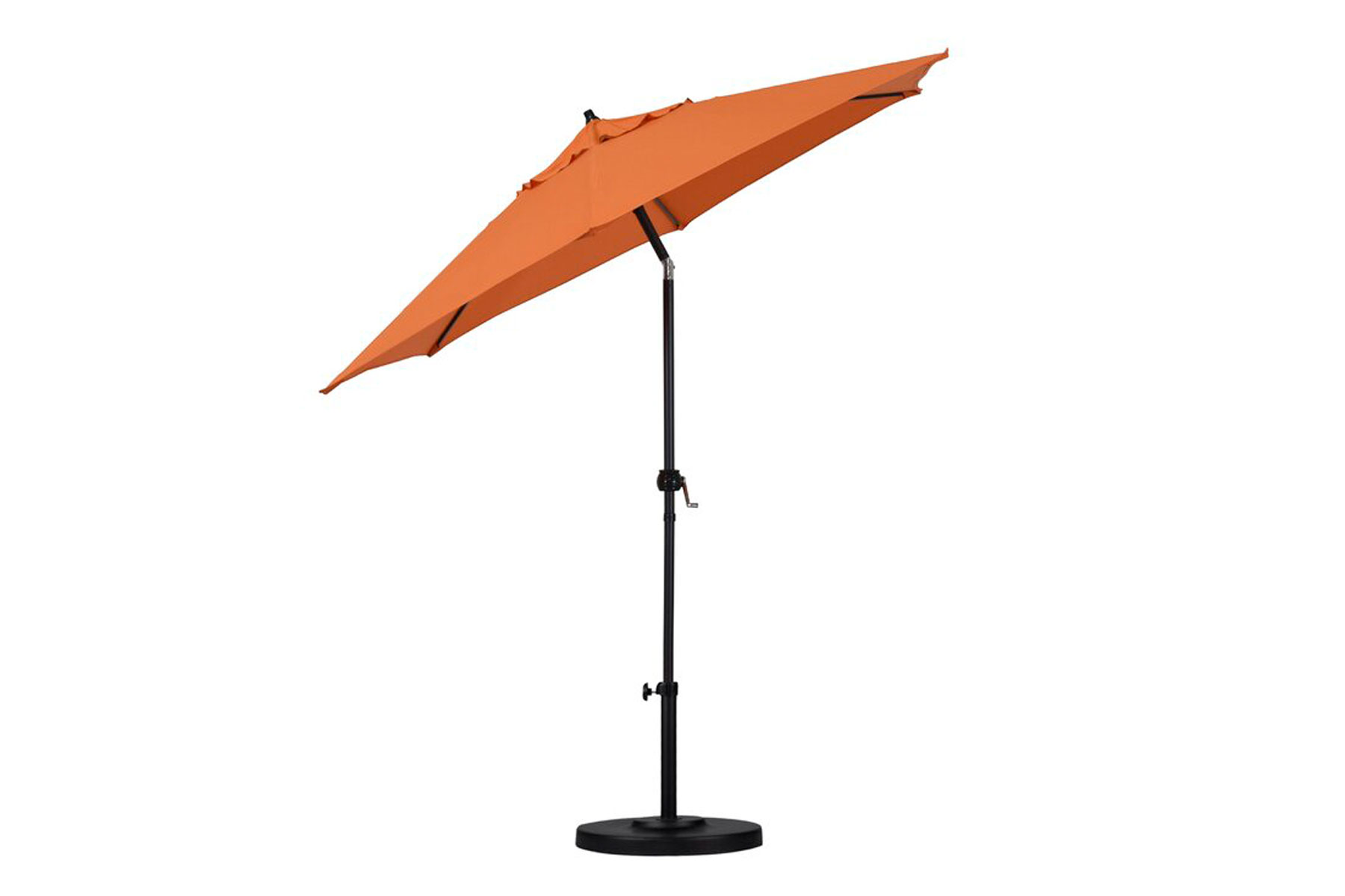 Orange shade pool umbrella