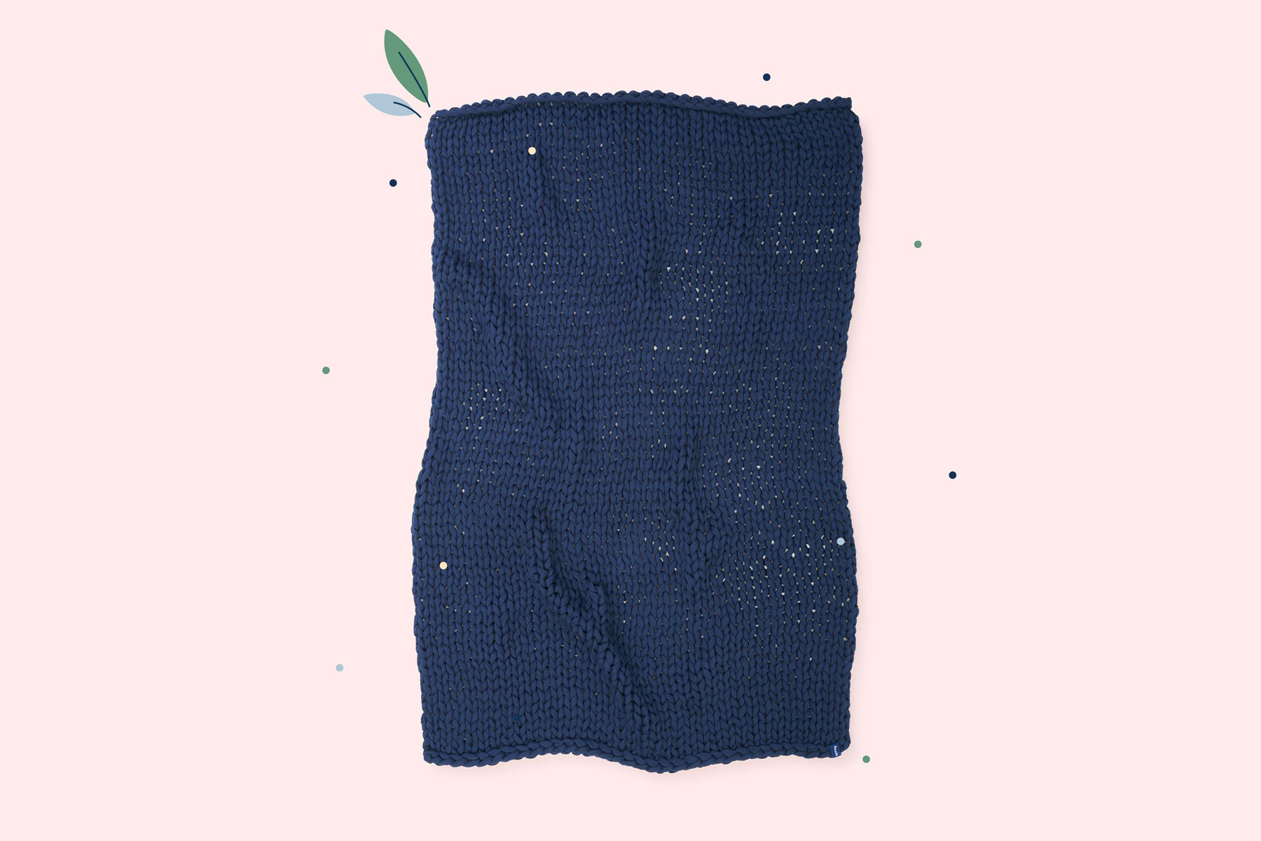Navy knit weighted blanket