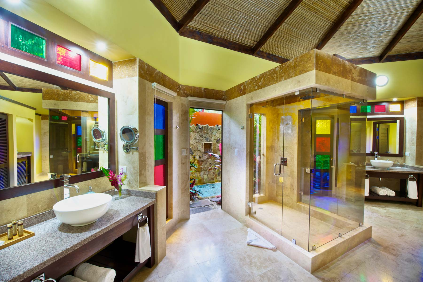Bathroom at the Nayara Gardens resort in Costa Rica